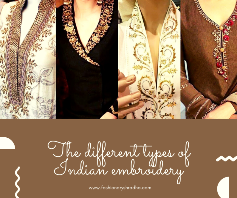 DIFFERENT TYPES OF INDIAN EMBROIDERY