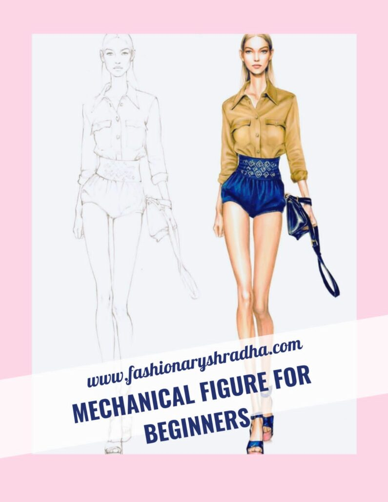 HOW TO DRAW FASHION FIGURES FOR BEGINNERS, MECHANICAL CROQUIS…